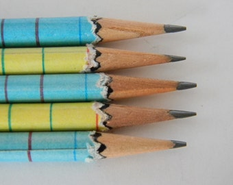 Old School notebook paper Hand wrapped pencils