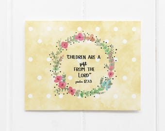 New baby card sets etsy new baby card set christian baby shower card bible verse children are a gift from the lord youre expecting card greeting card m4hsunfo
