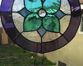 Floral Stained Glass Art Piece