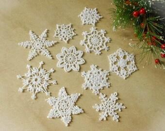Crochet snowflakes Set of 10 snowflakes Winter decor Handmade snowflakes Christmas decorations S12 S4 S11 S15 S6 S13 S9 S17 S18 S1