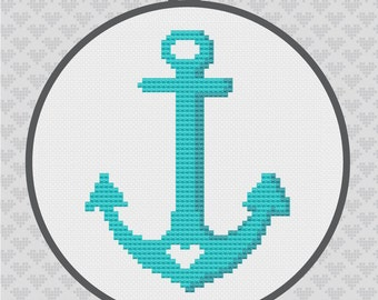 Anchor Silhouette Cross Stitch PDF Pattern