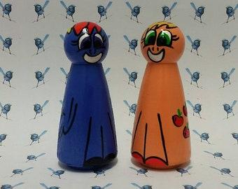 Handpainted Wooden Peg Dolls - My Little Pony