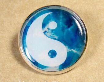 Yin Yang Pin, Yin Yang Brooch, Yin Yang Jewelry, Yin Yang Lapel Pin, Good Karma Pin, Good Karma Brooch, Good Karma Jewelry, Yin Yang Gift