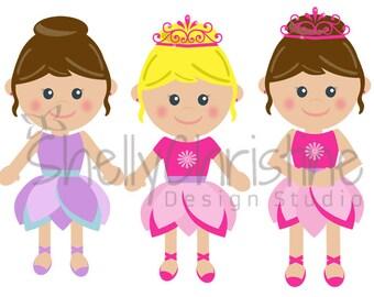 Ballet Dancer Clipart / Princess Clip art / Kids Clip Art / Little Girl Ballerina Dance Clipart / Dance Clip Art / High Resolution PNG