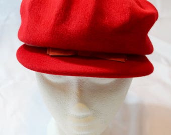 1960s Faw to Felt Cap Hat by Glenover For Macy's