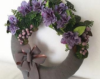 Lavender Velvet Wreath