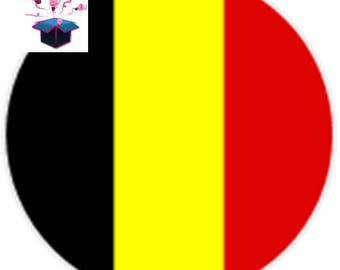1 cabochon clear 20mm Belgian flag theme