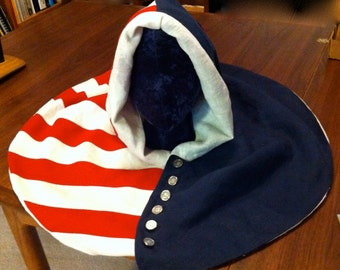 USA Knights 14th Century Style Hood with button front