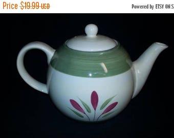 ON SALE Pier 1 One VERONA Tea Pot & Lid Hand Painted Stoneware Excellent Condition