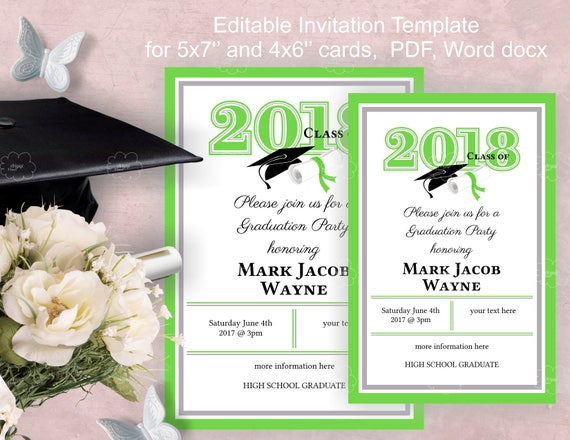 Graduation party invitation template download edit yourself solutioingenieria Gallery