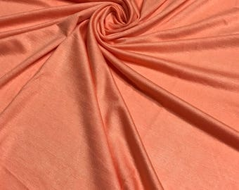 DK PEACH Rayon Spandex Jersey Knit Fabric, 4 Way Stretch, Four Way, BTY By The Yard