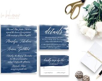 Printable Wedding Invitation Suite / Wedding Invite Set - Something Blue