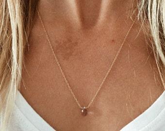 Ametrine Gemstone Teardrop Necklace in 14/20 Gold-fill, Sterling Silver or 14/20 Rose Gold-fill