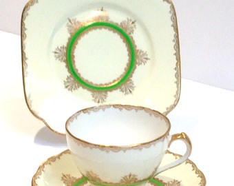Roslyn Vintage China Tea cup saucer plate set afternoon tea party cups saucers English tea set China table ware
