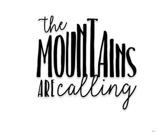 The Mountains are Calling Decal, Car Decal, Bumper Sticker, Bumper Sticker Nature, Adventure Sticker, Mountain Sticker, Cute Car Decals