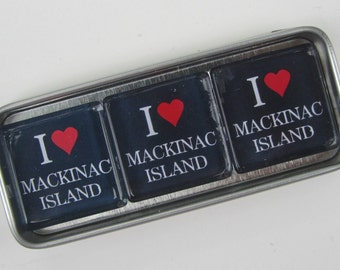 MACKINAC ISLAND Up North Michigan Magnets Set Souvenir