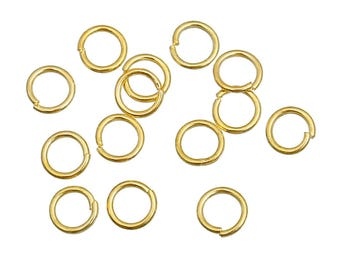 Gold plated 18K - 4mm or 5mm - 100 or 1000 18K gold plated jump rings