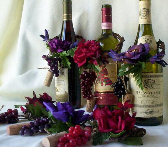 wine bottle decorations for weddings wedding centerpieces amorebride wine bottle toppers set of 4 1430