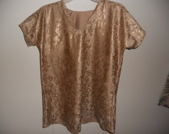 Gold Embossed Blouse