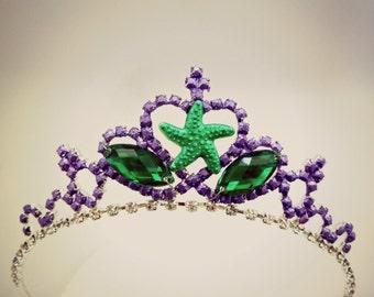 Princess Ariel Mermaid Crown , Mermaid Tiara ,Little Mermaid Crown, Ariel the Little Mermaid Headband,Mermaid Tiara,Green purple Crown