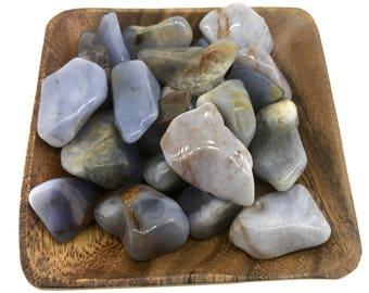 Chalcedony Tumbled - Throat Chakra - Tumbled Chalcedony - Reiki - Energy Healing - Reiki - Crystal Healing