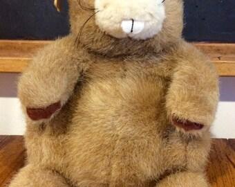 Vintage Applause Beaver Plush Doll, Vintage Applause Beaver, Beaver Plush, Stuffed Animal Beaver, Beavers, Collectible Beavers