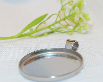 Stainless Steel Pendant Tray 20mm
