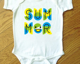 Summer Graphic Cotton Bodysuit (Boy)