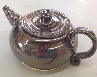 Handmade, wheel thrown, ceramic teapot