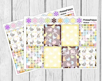 Planner Stickers Full Box Shaded Centers Vertical Horizontal Easter Planner Stickers eclp made for Erin Condren PS381a