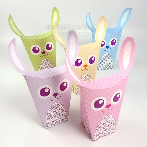 Printable Easter Bunny Rabbit Party Favor