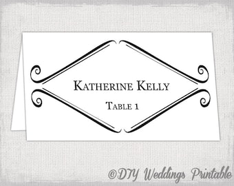 table tent cards template word
