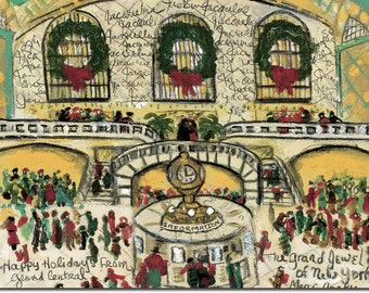 Grand Central boxed holiday cards by Michelle Winters