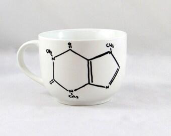 READY TO SHIP Caffeine Molecule Mug-  Custom Mug for hot and cold beverages