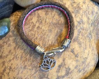 Zen Jewellery, Graduation Gift, Lotus, Mother's Day Gift, Namaste Bracelet, Yoga Jewelry, Coworker Gift, Earthy, Bohemian Earth Designs