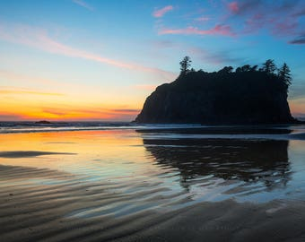 Pacific Northwest Art, Reflection Wall Art, Sunset Washington, Pacific Northwest, Print Pictures, Sunset Ocean, Washington Artwork, Sunsets