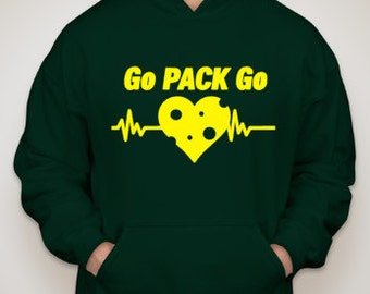 Go Pack Go Green Bay Packers Hooded Sweatshirt