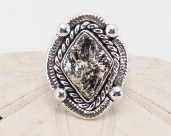 Pyrite and Sterling Silver Ring