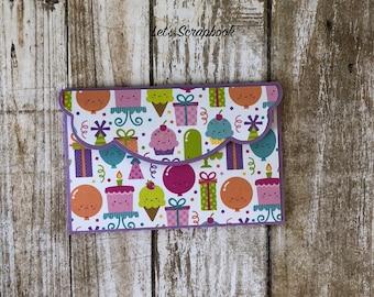 Birthday Gift Card Holder, Gift Card Holder, Card Holder, Birthday Cards, Birthday, Gift For Birthday, Birthday Gift, Money Holder, Envelope