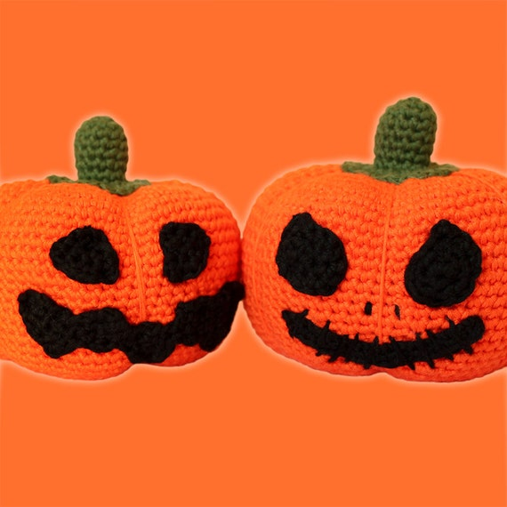 Halloween Pumpkins Pattern. Amigurumi Pattern PDF.