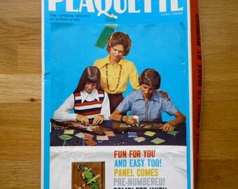 Vintage Craft Kit Plaquetee 1965 USA