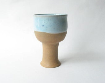 Goblet made in Stoneware, Pottery Wine Glass