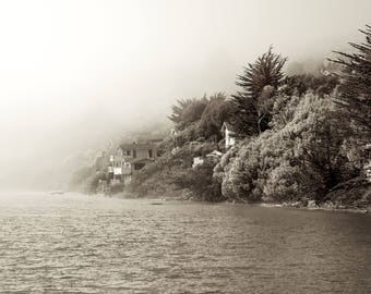 Russian River in Fog, Fine Art Photography Print, Nature, Landscape, Environment, Peaceful, Water / California /Fog /Home Decor