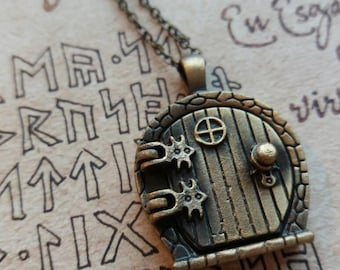 Adventure fantasy door necklace