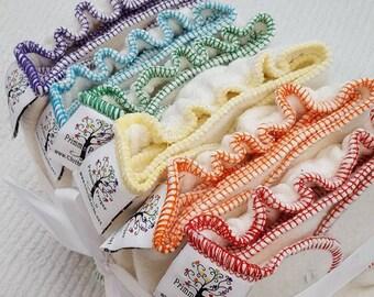 NEWBORN Hemp/Bamboo Fitted CLOTH DIAPER (6-12#)  Set of 6 in Rainbow colors,rainbow,best newborn diaper,new baby,new mom,gift,shower,nappy
