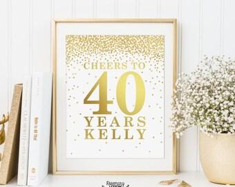 Custom Birthday Sign, Personalized Birthday Printable, Birthday party decorations, Birthday Printable Banner, Custom Birthday, Custom Order