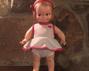 Adorable Vintage 1970's Rose O' Neill Kewpie Gal Doll by Cameo