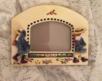 Vintage 1994 Mary Engelbreit China Picture Frame Playful Artwork by ME Mary Engelbreit Fans and Collectors