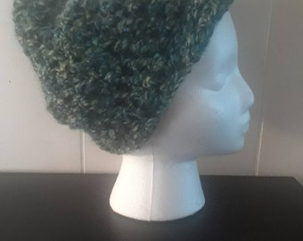 Sea Colors Crochet Beanie with Bill