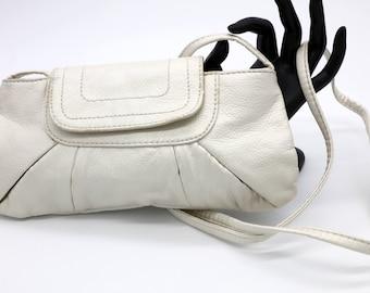 Cream/White Leather Purse